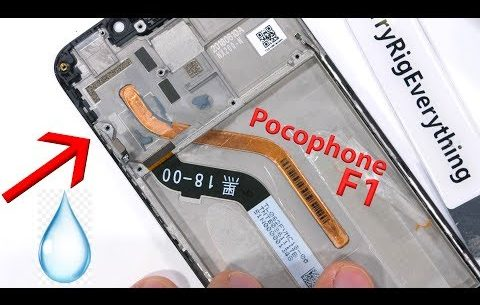 Xiaomi Poco phone F1 Teardowns - found LIQUID inside