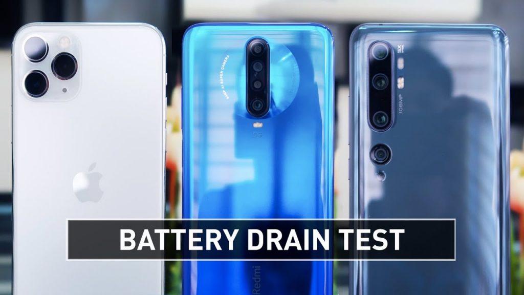 iPhone 11 Pro vs Redmi K30 5G vs Mi Note 10 Battery Test, Redmi K30 5G vs Mi Note 10 Battery Test, iPhone 11 Pro vs Mi Note 10 Battery Test, iPhone 11 Pro vs Redmi K30 5G Battery Test