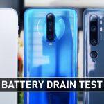 iPhone 11 Pro vs Redmi K30 5G vs Mi Note 10 Battery Test