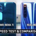 Huawei Nova 7i vs Realme 6 Speed Comparison